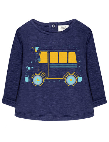 Baby Boys Connect the Dots Bus Long Sleeve Tee