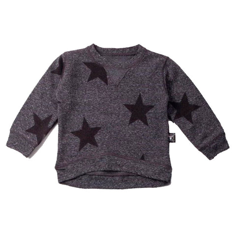Star Sweatshirt in Charcoal