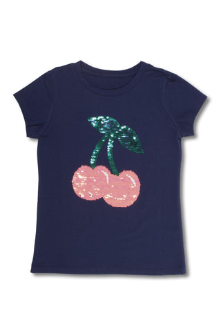 Magic 2-Way Sequins Cherries Tee