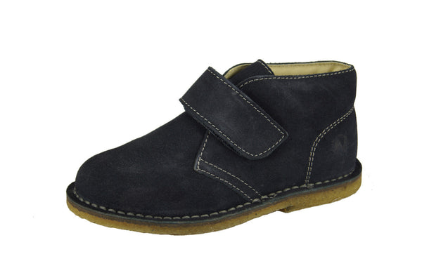 Boys Navy Suede Chukka Boot