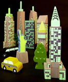 City Skyline Glow in the Dark Blocks Set