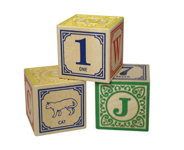 Classic ABC Blocks with Canvas Bag