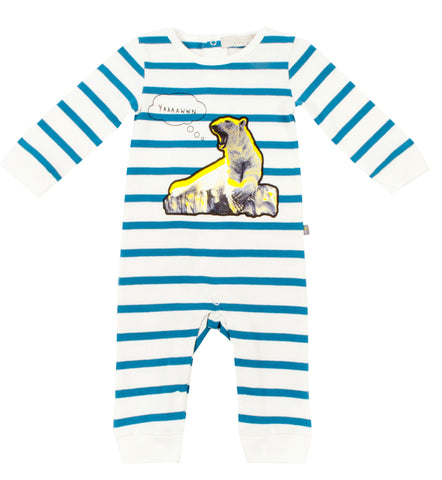 "Baby Boys ""Dewberry"" Bear Romper"