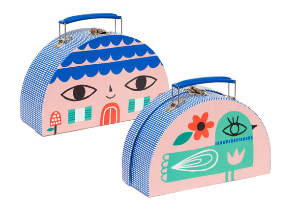 3 Piece Double Sided Suitcase Set