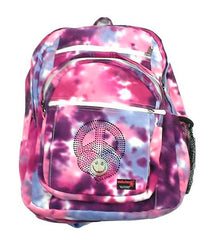 Purple Multi Tie Dye Backpack with Embellishment - CHOOSE EMBELLISHMENT OPTION