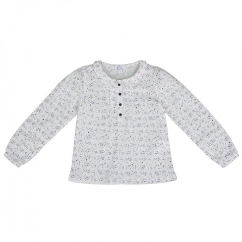 Girls Peter Pan Collar Blouse in Confetti Print