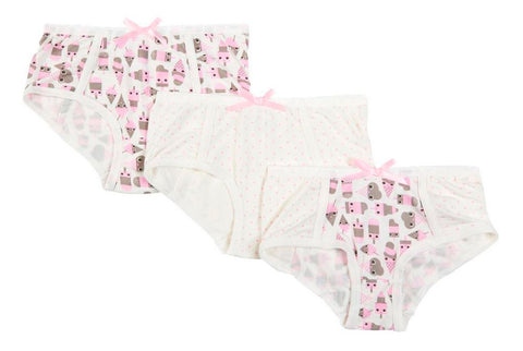 Ice Cream 3-Pack Brief Set In Assorted Prints