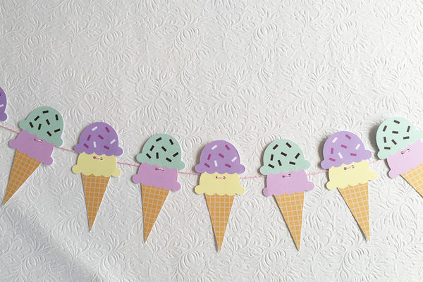 Ice Cream Cones Garland