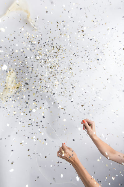 Jumbo Confetti Balloon - Metallic