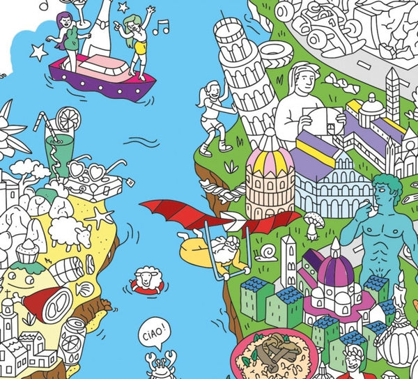 Italy Giant Coloring Poster