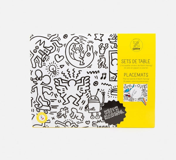 Keith Haring Color-In Placemats
