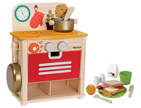 Mini Kitchen Set with Breakfast Food