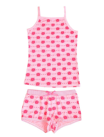 Two Piece Tank and Shorts Kitty Set