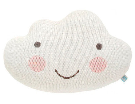 Knit Cloud Pillow in White