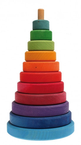 Large Rainbow Stacking Tower