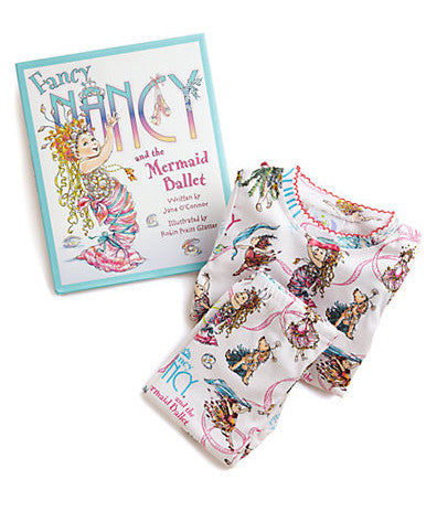 Fancy Nancy & the Mermaid Ballet Book and Pajamas Set