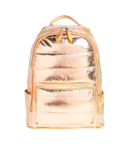 Rose Gold Quilted Backpack