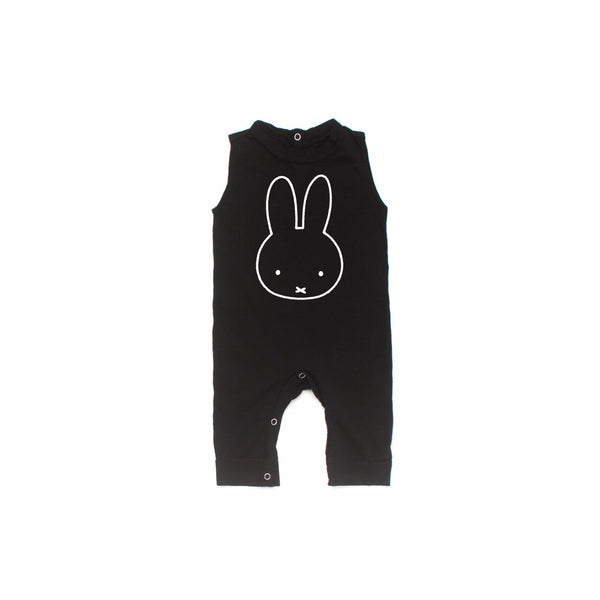 Miffy Graphic Short Sleeve Jumpsuit in Black