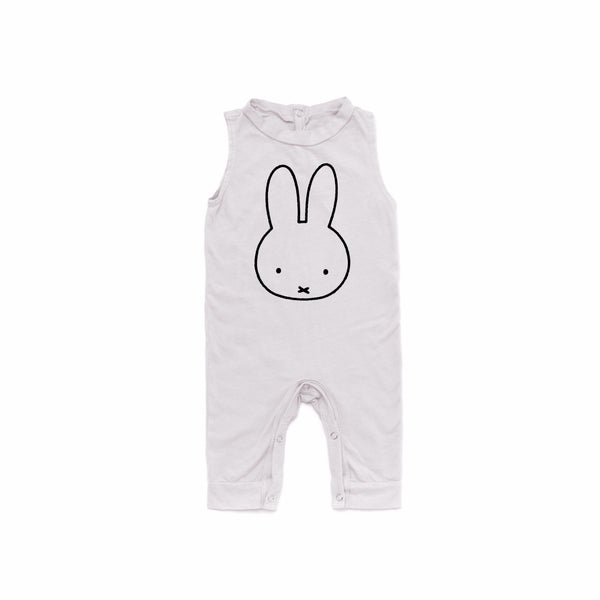 Miffy Graphic Sleeveless Jumpsuit in Light Grey