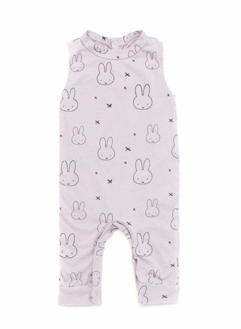 Miffy Print Tank Jumpsuit in Light Grey