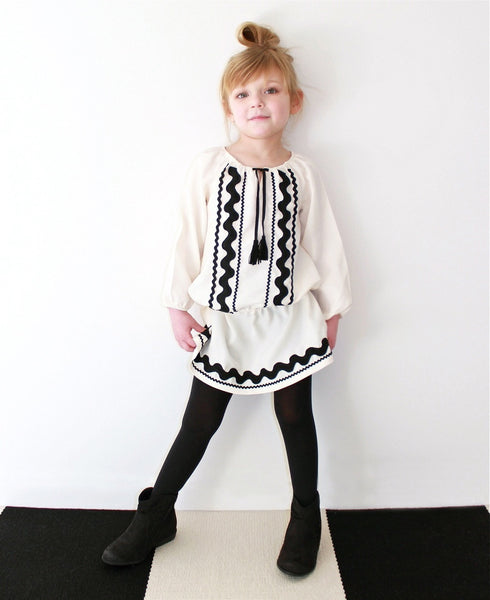 Black & White Ric Rac Tunic