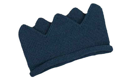 Navy Knitted Crown