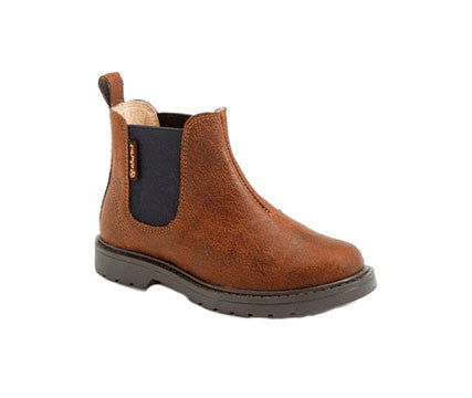 Unisex Brown Stretch Boots