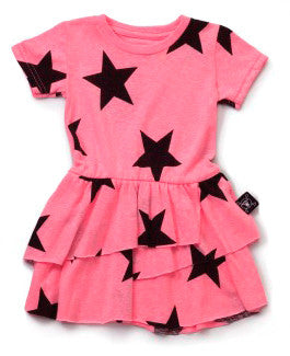 Layered Star Dress in Pink
