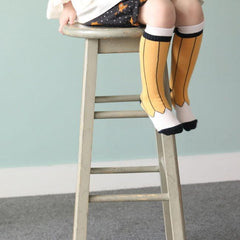 Pencil Knee Socks - Yellow or Black