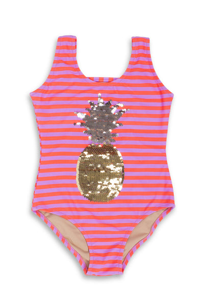 Sequin Pinapple One Piece Swimsuit