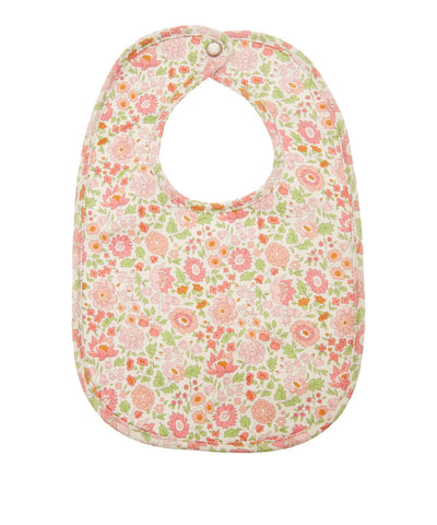 Liberty Print Floral Bib in Pink Multi