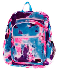 Pink, Purple & Turquoise Multi Tie Dye Backpack with Embellishment - CHOOSE EMBELLISHMENT OPTION