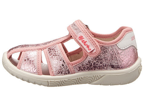 Girls Pink Foil Fisherman Sandal