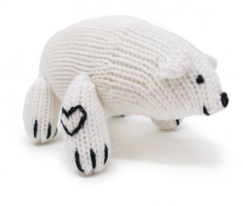 Organic Cotton Polar Bear Rattle
