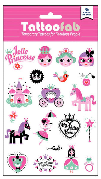 Princess Temporary Tattoo Set
