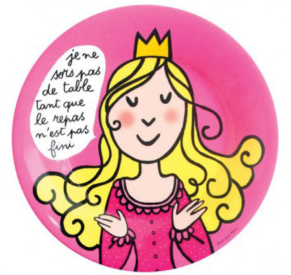 Princess Manners Plate - I do not leave the table until the meal is finished