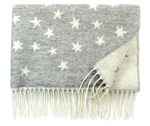 Stars Blanket in Grey Multi - AS SEEN ON VOGUE.COM
