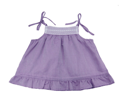 Baby/Little Girls Lace Detail A-line Top