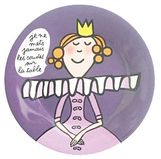 Princess Manners Plate - I don't put my elbows on the table