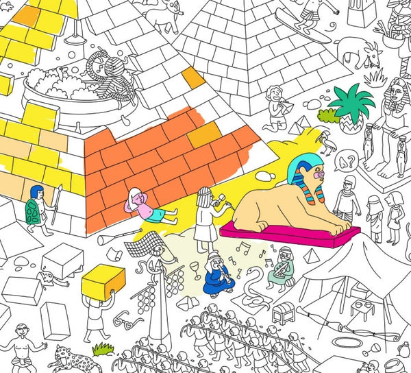 Pyramid Giant Coloring Poster
