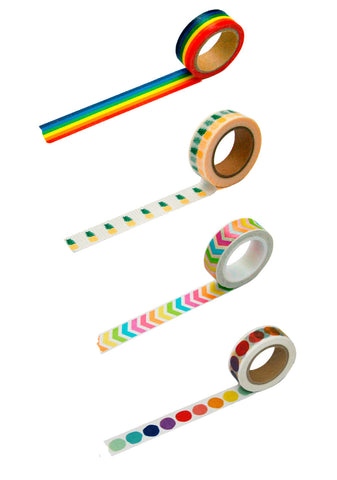 Rainbow Fun Washi Tape 4 Pack