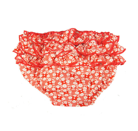 "Baby Girls Ruffle Bloomers in ""Millie"" Print"