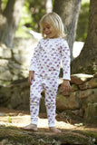 Kids Whale Pajama Set in Lavender