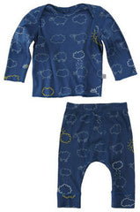 Baby Boys Sheep Top & Leggings Set in Navy
