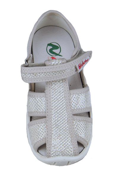 Girls Metallic Silver Fisherman Sandal