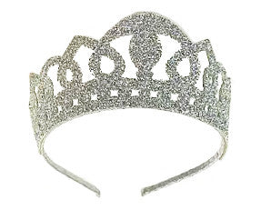 Silver Glitter Crown Headband