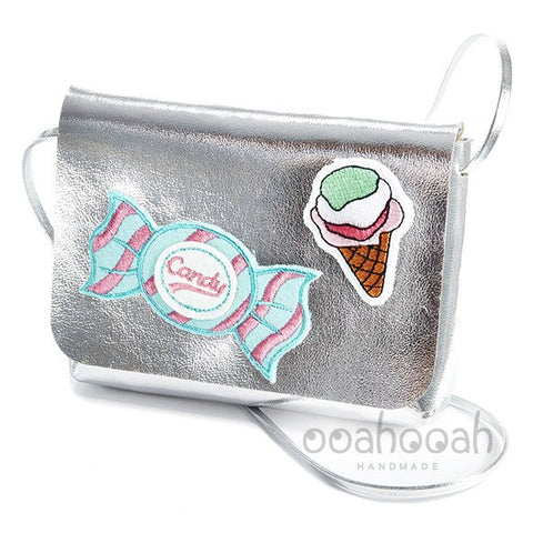 Silver Bag with Ice Cream and Candy Detail