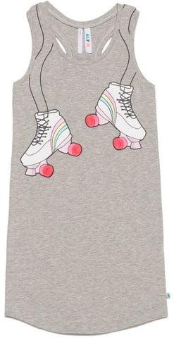Tank Dress with Roller Skates