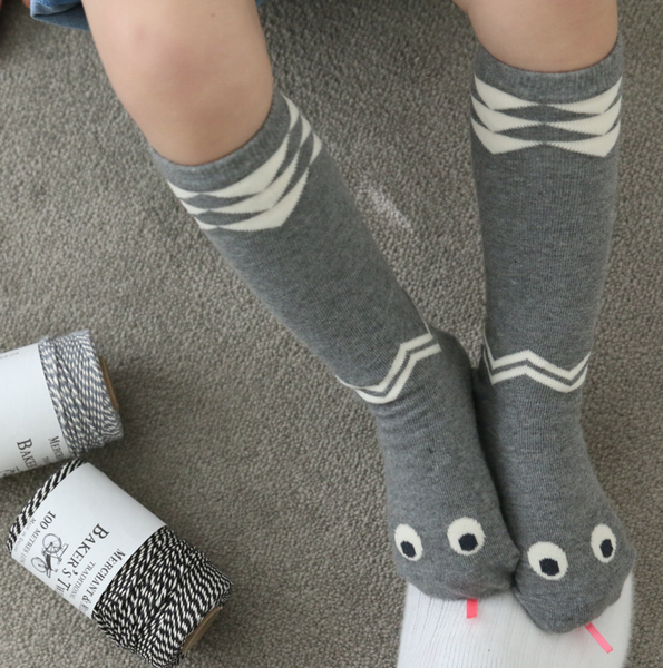 Snake Socks in Grey