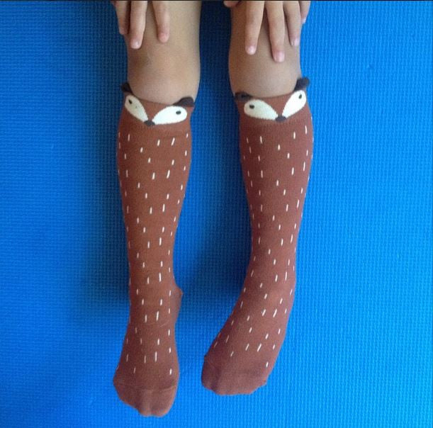 136e805f4 Fox or Raccoon Knee Socks - GREY or BROWN – Little Circus